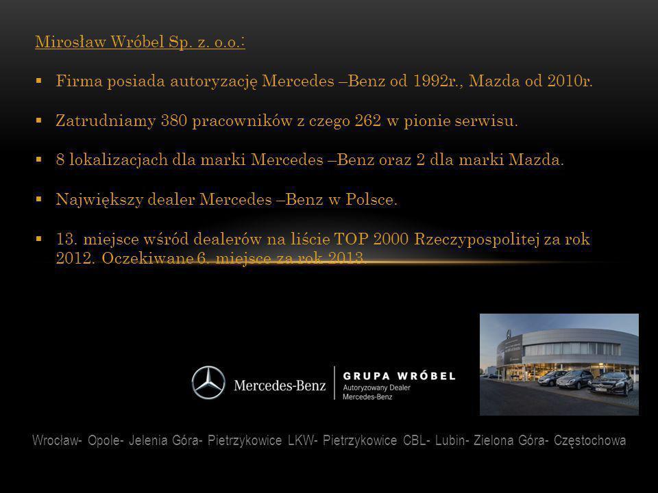 Wrocław- Opole- Jelenia Góra- Pietrzykowice LKW- Pietrzykowice CBL- Lubin- Zielona Góra- Częstochowa Współpraca:  We września 2007 roku rozpoczęliśmy współpracę z Zespołem Szkół nr 2, przy ul.