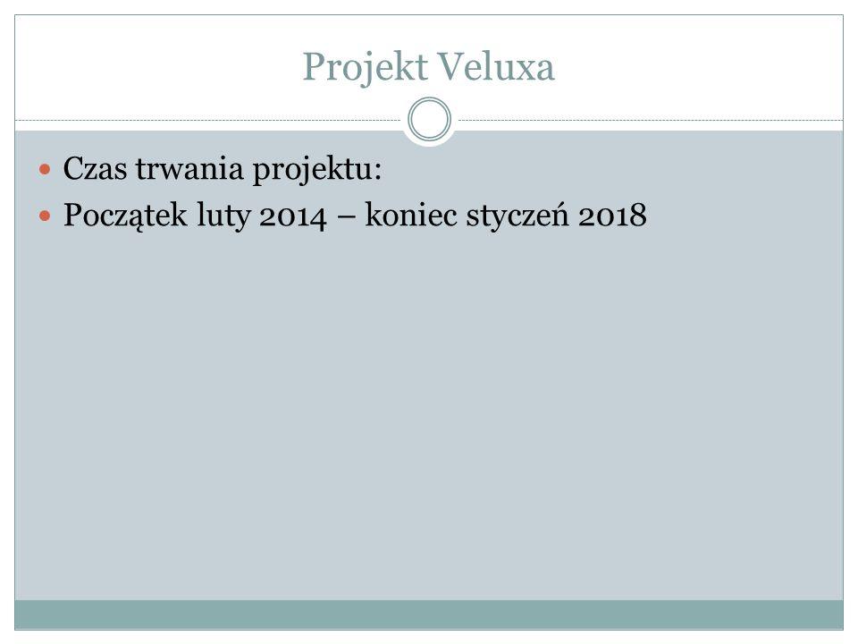 Projekt Veluxa Czas trwania projektu: Początek luty 2014 – koniec styczeń 2018