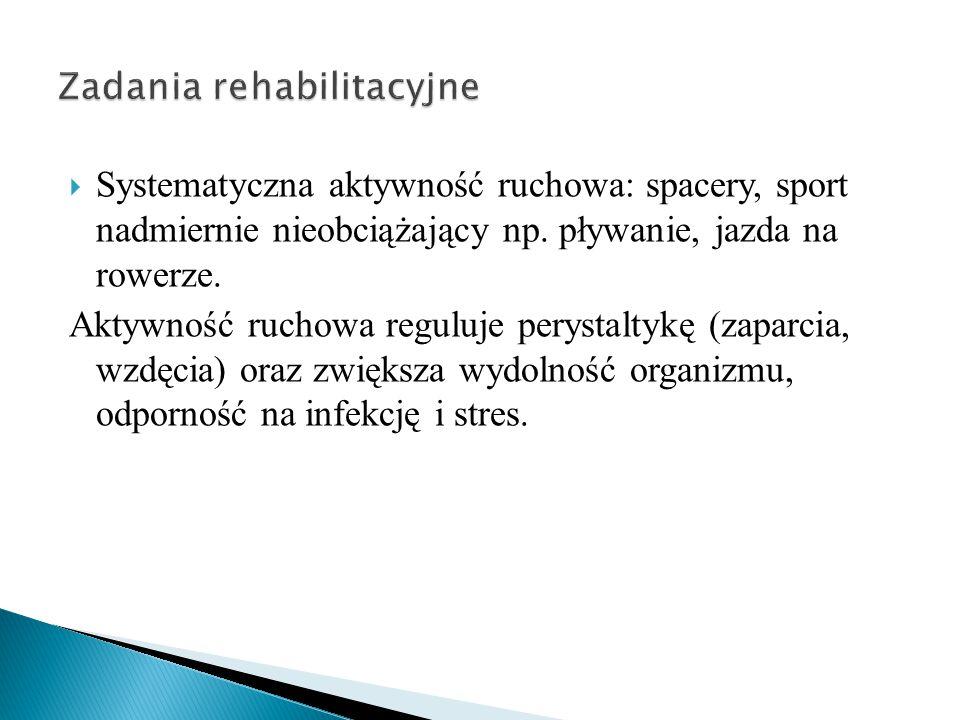  Systematyczna aktywność ruchowa: spacery, sport nadmiernie nieobciążający np.