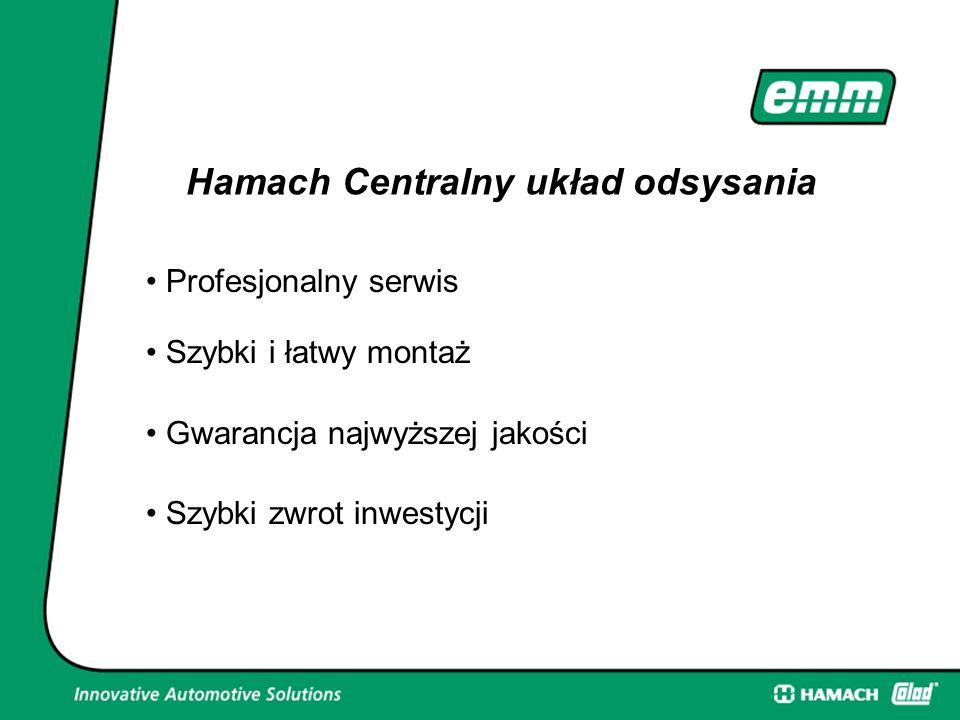 Profesjonalny serwis Hamach Centralny układ odsysania Szybki zwrot inwestycji Gwarancja najwyższej jakości Szybki i łatwy montaż