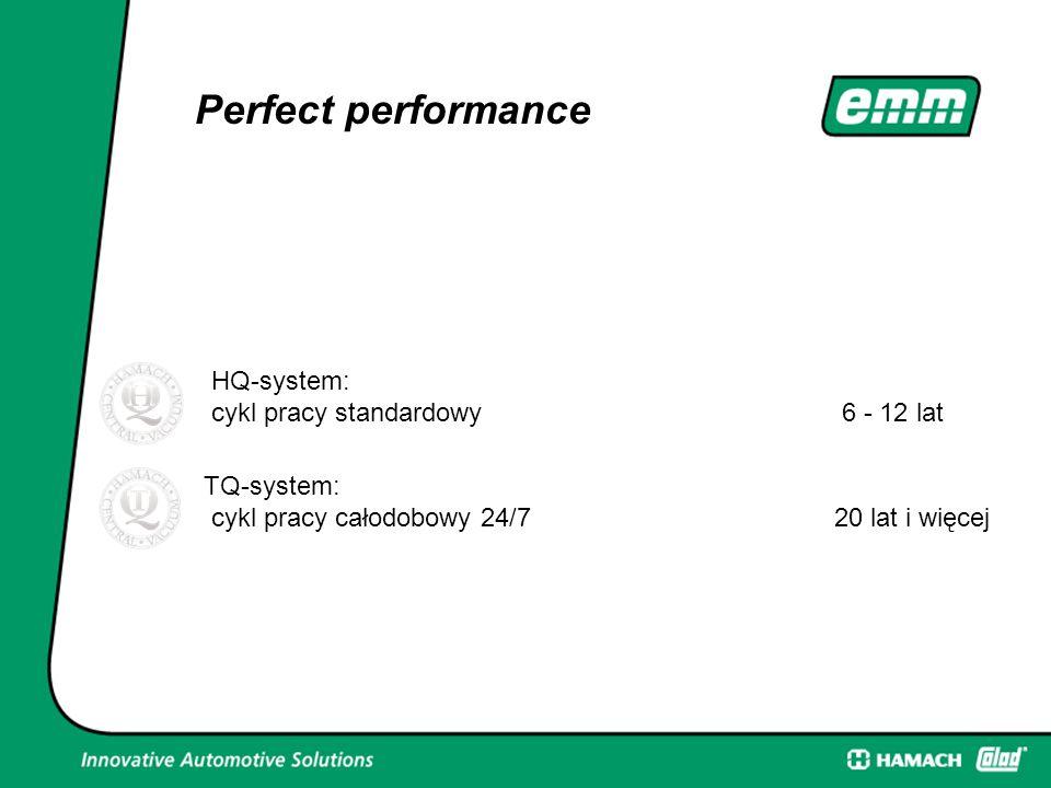 Perfect performance HQ-system: cykl pracy standardowy 6 - 12 lat TQ-system: cykl pracy całodobowy 24/7 20 lat i więcej