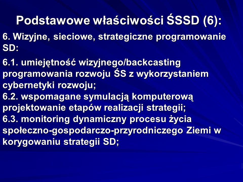 Podstawowe właściwości ŚSSD (6): 6. Wizyjne, sieciowe, strategiczne programowanie SD: 6.1.
