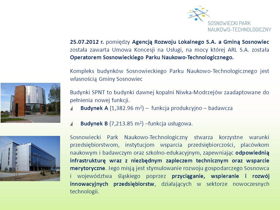 25.07.2012 r. pomiędzy Agencją Rozwoju Lokalnego S.A. a Gminą Sosnowiec została zawarta Umowa Koncesji na Usługi, na mocy której ARL S.A. została Oper