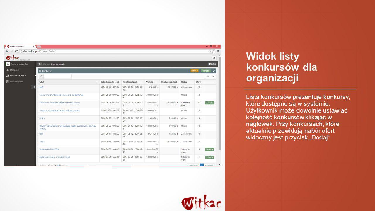 Widok wprowadzania i edycji oferty Formularz wprowadzania i edycji oferty został podzielony na pięć ekranów.