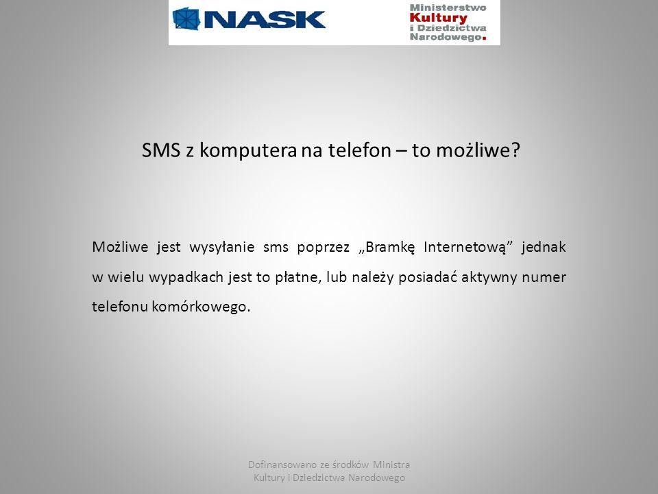 SMS z komputera na telefon – to możliwe.