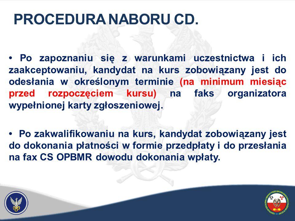 PROCEDURA NABORU CD.