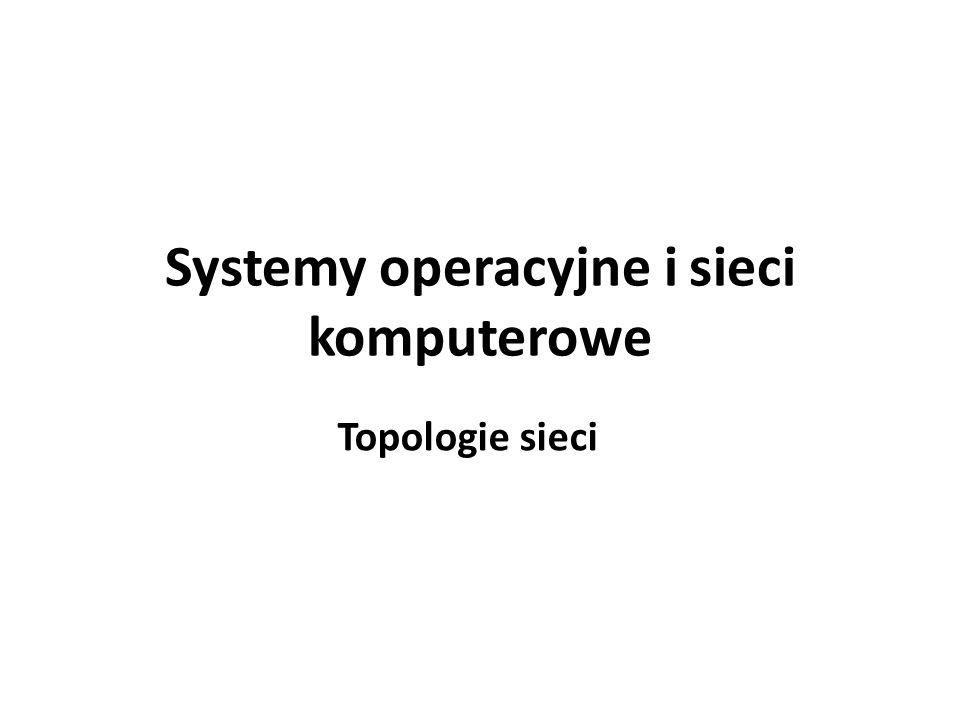 Topologia sieci Topologia sieci określa sposób jej wykonania, czyli połączenia urządzeń komputerowych za pomocą medium transmisyjnego.