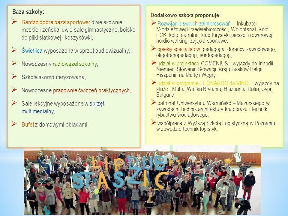 Dodatkowo szkoła proponuje :  Rozwijanie swoich zainteresowań - Inkubator Młodzieżowej Przedsiębiorczości, Wolontariat, Koło PCK, koło teatralne, klu