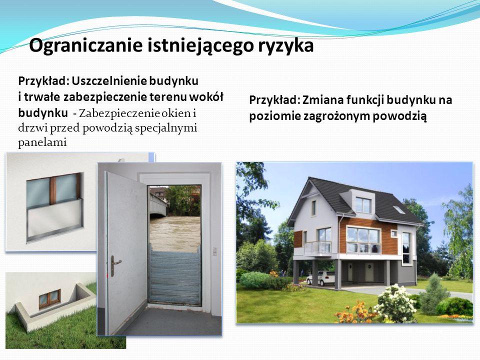 Przykład: Uszczelnienie budynku i trwałe zabezpieczenie terenu wokół budynku - Zabezpieczenie okien i drzwi przed powodzią specjalnymi panelami Fot.