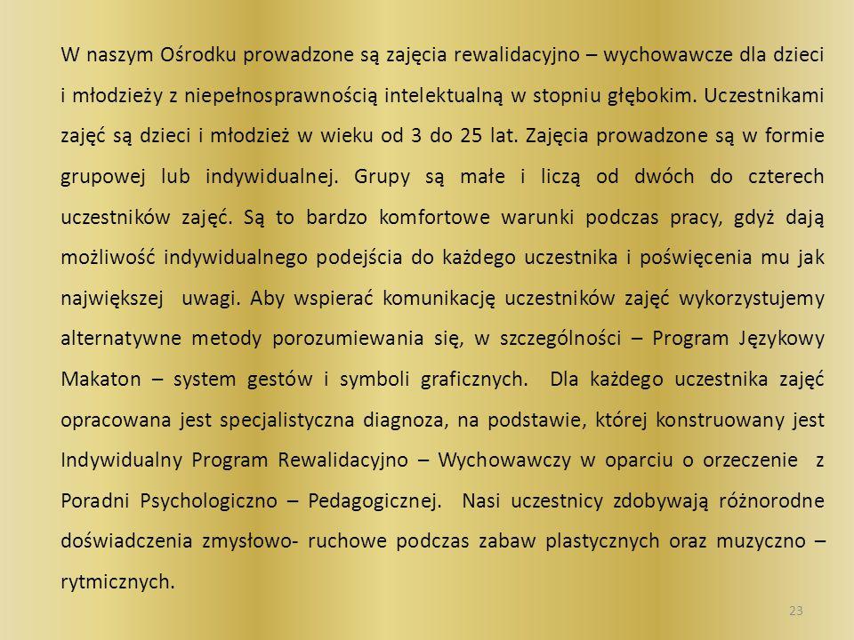Z naszymi uczniami pracują następujący specjaliści oligofrenopedagog tyflopedagog surdopedagog pedagog psycholog logopeda inni specjaliści w zależności od potrzeb dziecka 24