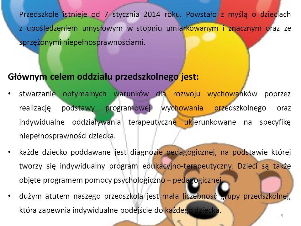 Przedszkole istnieje od 7 stycznia 2014 roku.