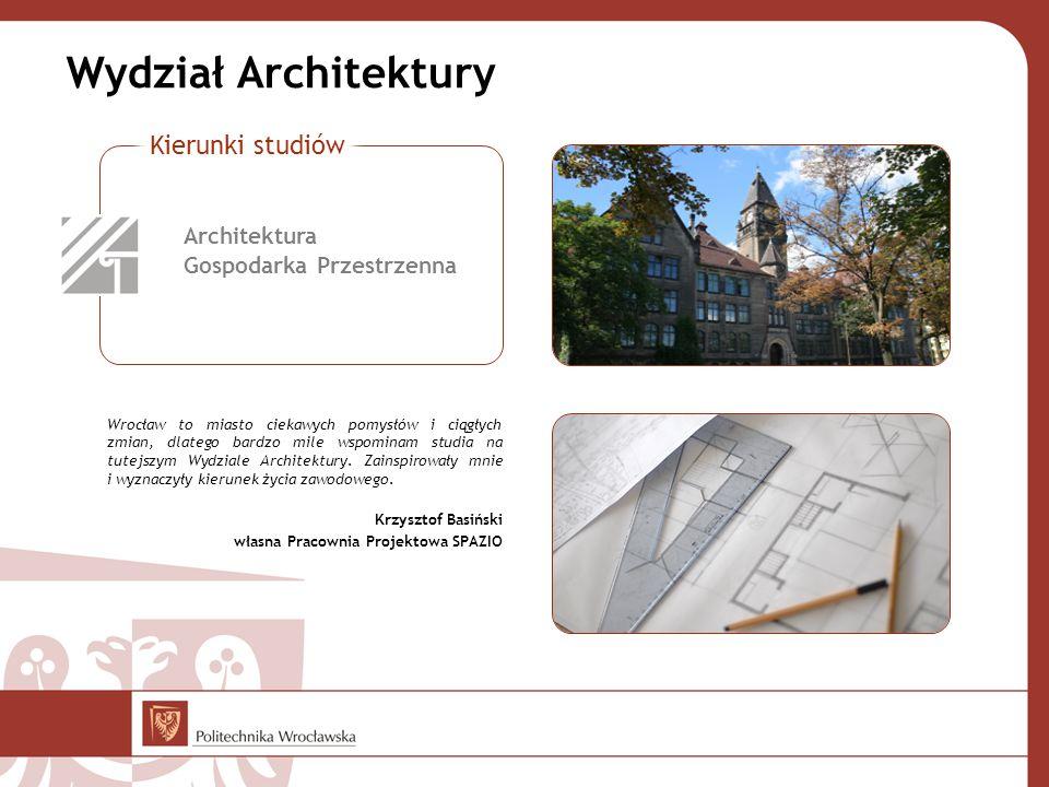Wrocław to miasto ciekawych pomysłów i ciągłych zmian, dlatego bardzo mile wspominam studia na tutejszym Wydziale Architektury. Zainspirowały mnie i w