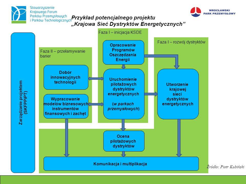 Opracowanie Programów Oszczędzania Energii Uruchomienie pilotażowych dystryktów energetycznych (w parkach przemysłowych) Ocena pilotażowych dystryktów