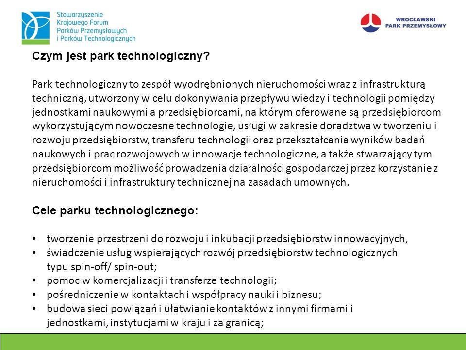 Czym jest park technologiczny? Park technologiczny to zespół wyodrębnionych nieruchomości wraz z infrastrukturą techniczną, utworzony w celu dokonywan