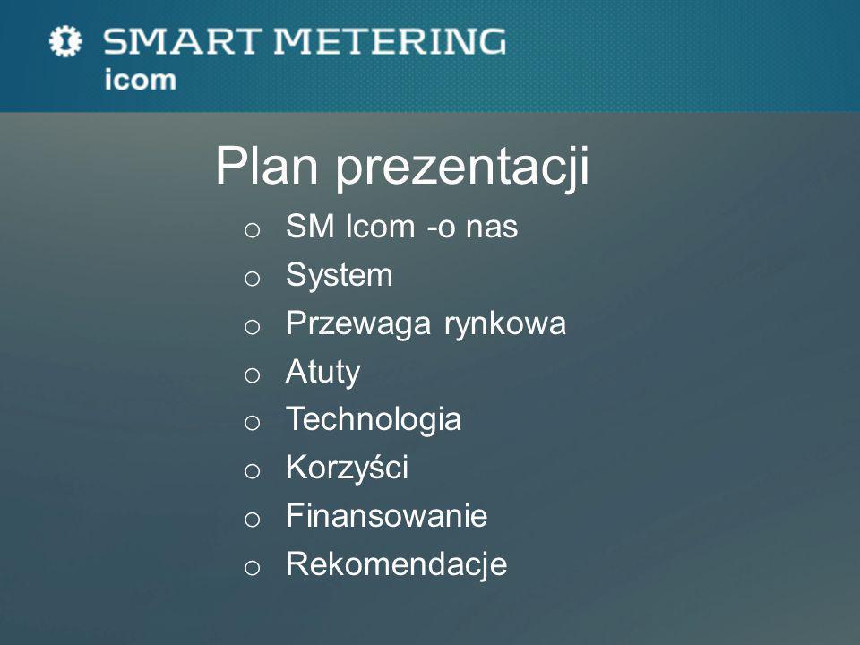 Plan prezentacji o SM Icom -o nas o System o Przewaga rynkowa o Atuty o Technologia o Korzyści o Finansowanie o Rekomendacje