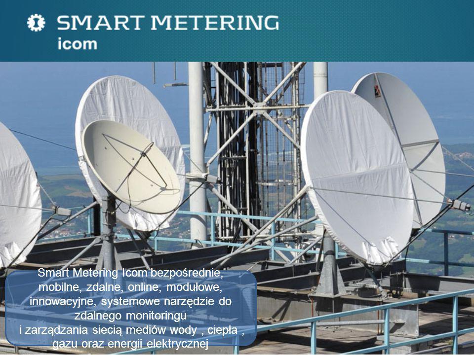 SYSTEM Główne funkcjonalności SM Icom : zdalny odczyt opomiarowania geolokacja inwentaryzacja sieci paszportyzacja analiza i zarzadzanie automatyzacja