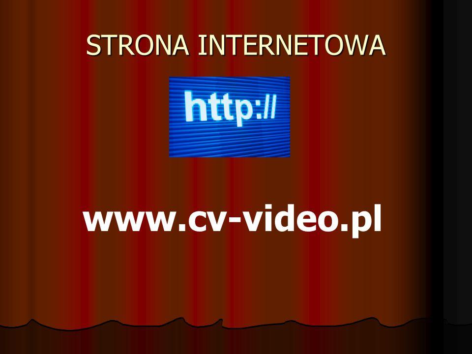 STRONA INTERNETOWA www.cv-video.pl