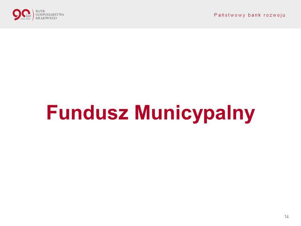 Państwowy bank rozwoju 14 Fundusz Municypalny