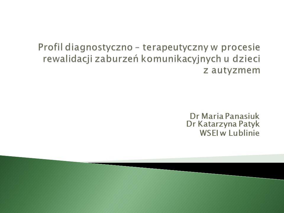 Dr Maria Panasiuk Dr Katarzyna Patyk WSEI w Lublinie
