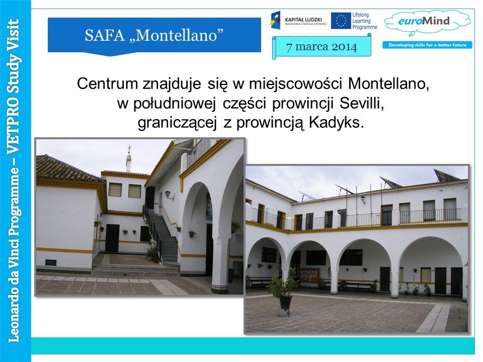 """SAFA """"Montellano 7 marca 2014 Centrum znajduje się w miejscowości Montellano, w południowej części prowincji Sevilli, graniczącej z prowincją Kadyks."""