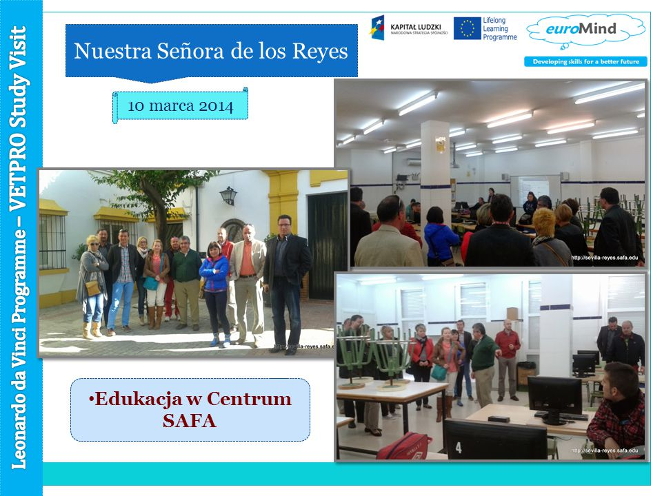 Nuestra Señora de los Reyes 10 marca 2014 Edukacja w Centrum SAFA