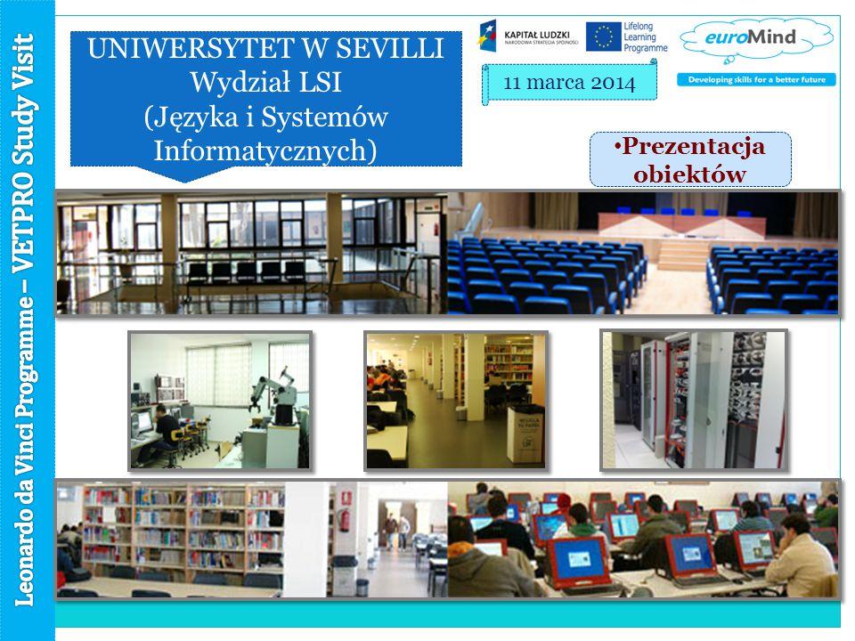 UNIWERSYTET W SEVILLI Wydział LSI (Języka i Systemów Informatycznych) 11 marca 2014 Prezentacja obiektów