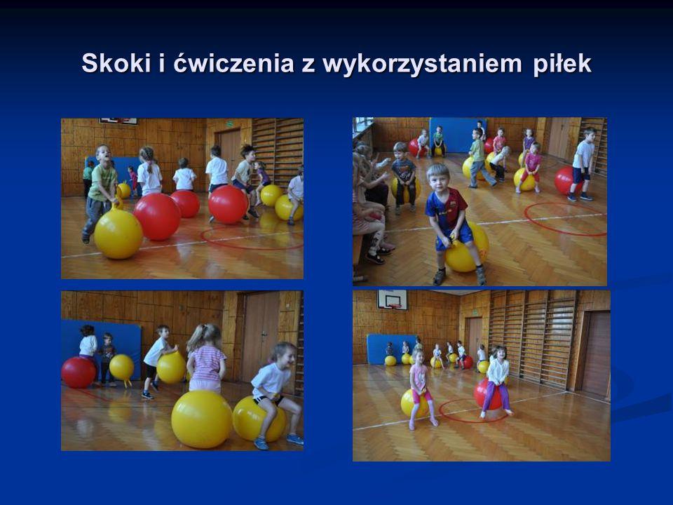 Skoki i ćwiczenia z wykorzystaniem piłek