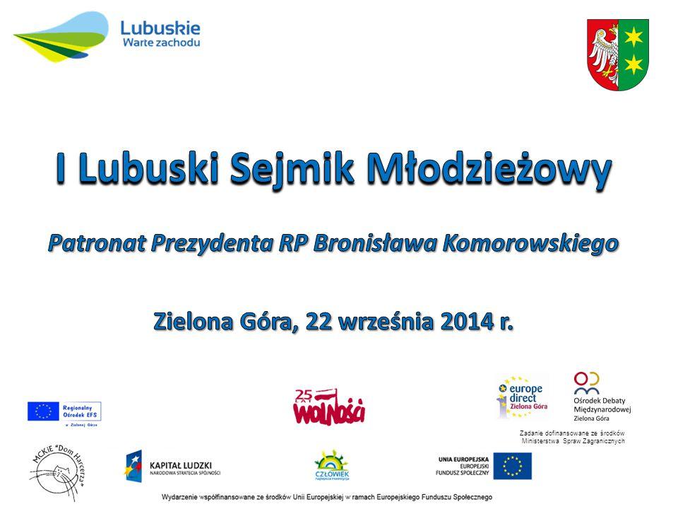Działalność edukacyjna Sejmiku Województwa Lubuskiego
