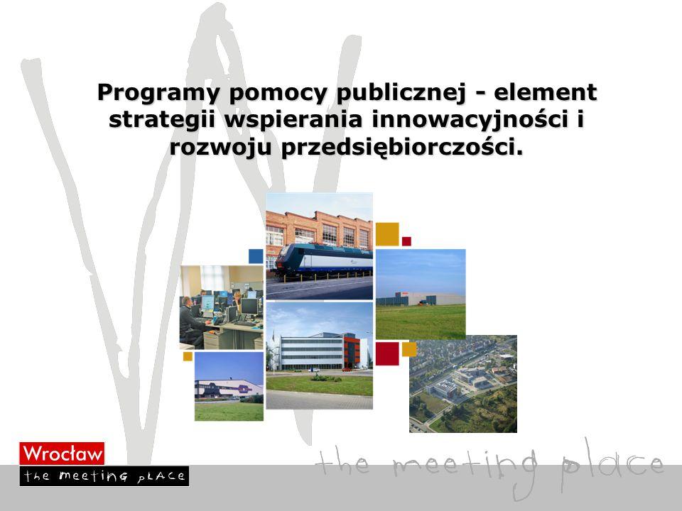 Programy pomocy publicznej - element strategii wspierania innowacyjności i rozwoju przedsiębiorczości.