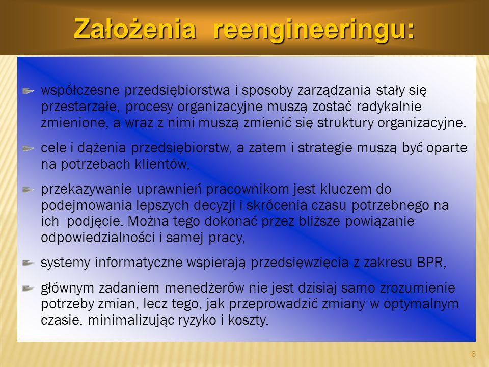 WŁAŚCICIEL PROCESU - osoba odpowiedzialna za koordyna- cję całokształtu działań związanych z zarządzaniem danym procesem.