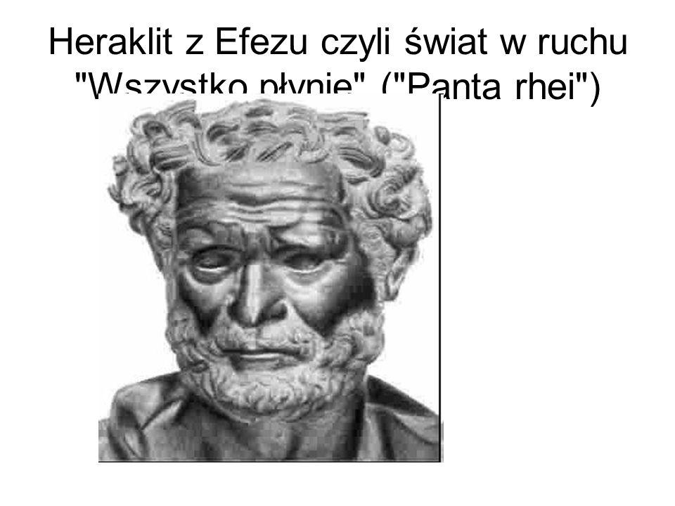 Heraklit z Efezu czyli świat w ruchu