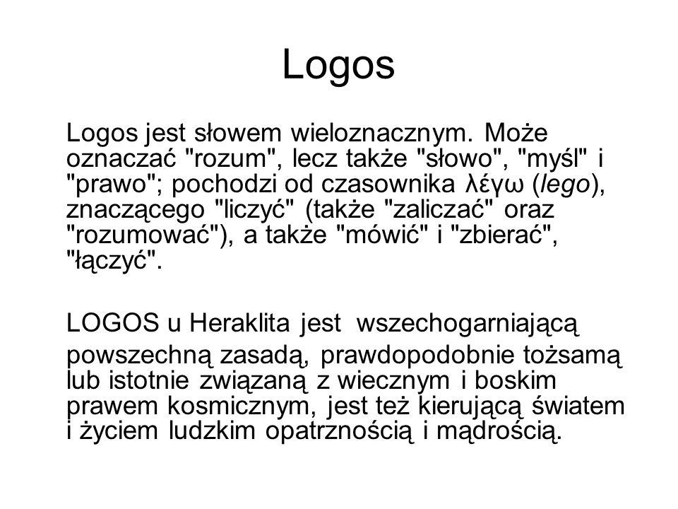 Logos Logos jest słowem wieloznacznym. Może oznaczać