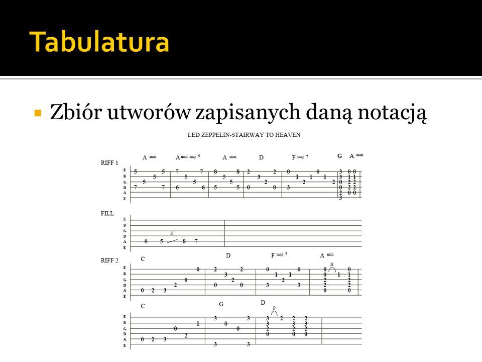  Zbiór utworów zapisanych daną notacją