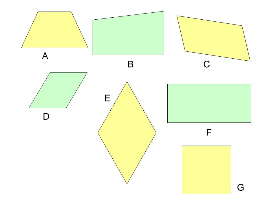 Odp.Czworokąty, które mają dwie pary boków równoległych przedstawiono na rys.