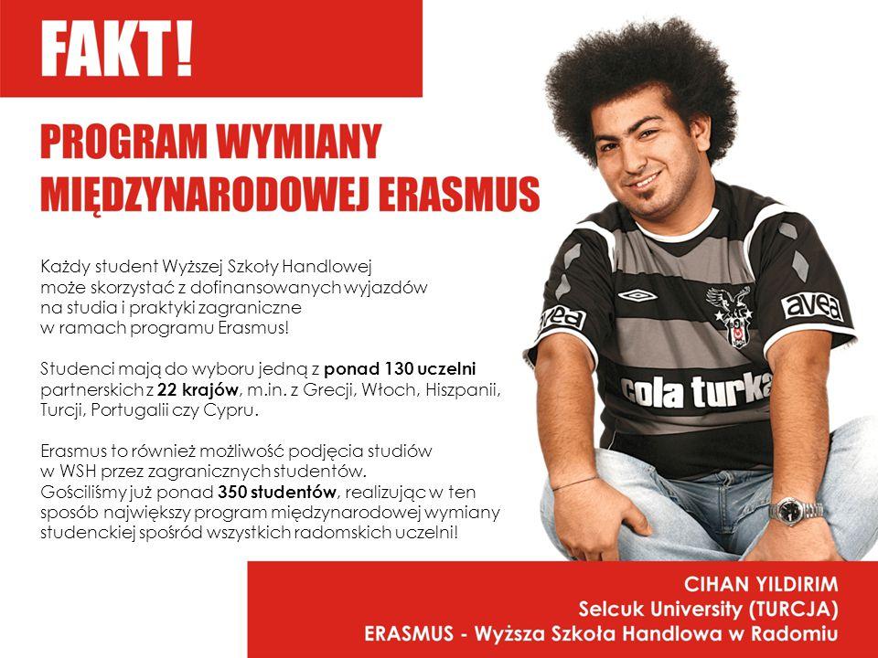 Każdy student Wyższej Szkoły Handlowej może skorzystać z dofinansowanych wyjazdów na studia i praktyki zagraniczne w ramach programu Erasmus.