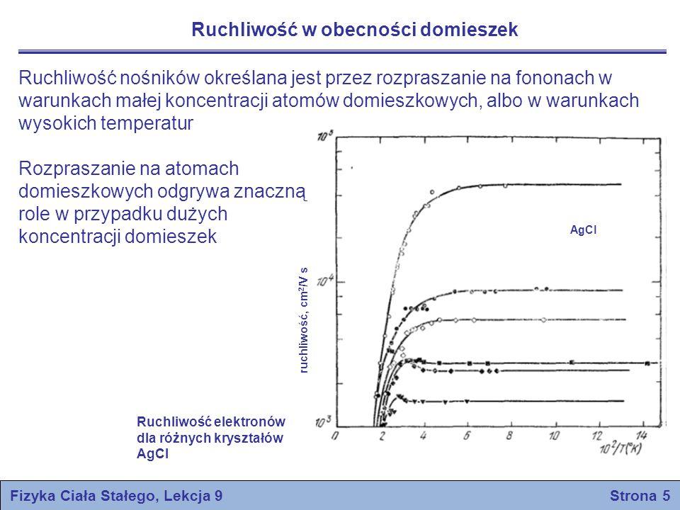 Pasma energetyczne w Si i Ge Fizyka Ciała Stałego, Lekcja 9 Strona 6 E, eV Ge