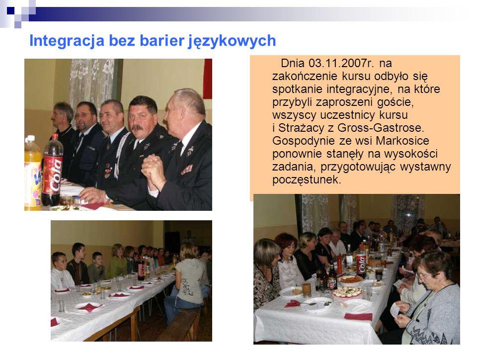 Integracja bez barier językowych Dnia 03.11.2007r.