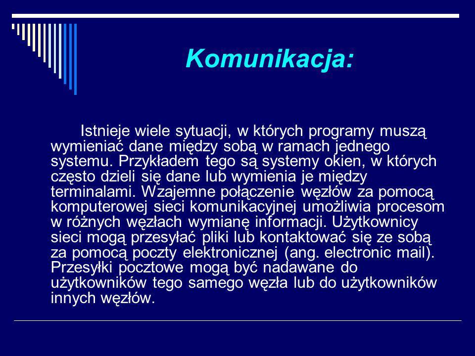 Komunikacja: Istnieje wiele sytuacji, w których programy muszą wymieniać dane między sobą w ramach jednego systemu.