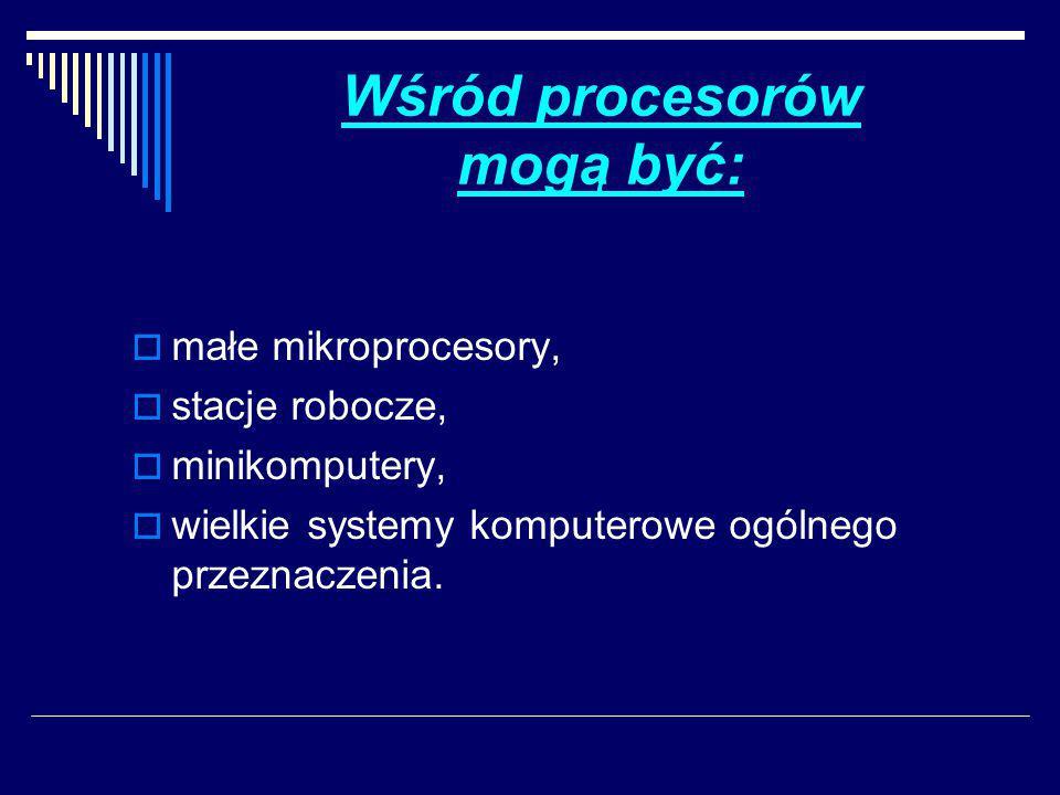 Na określenie tych procesorów używa się różnych nazw, takich jak:  stanowiska (ang.