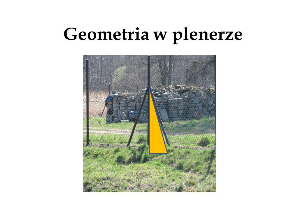 Trójkąty prostokątne Geometria na dworcu kolejowym