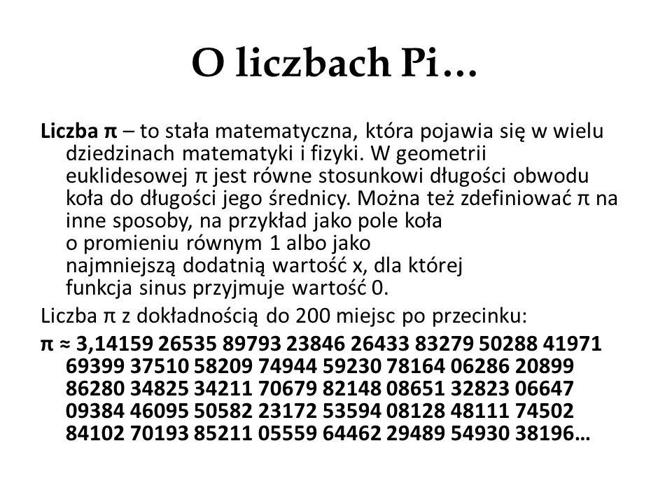 Ludolfina, czyli liczba Pi