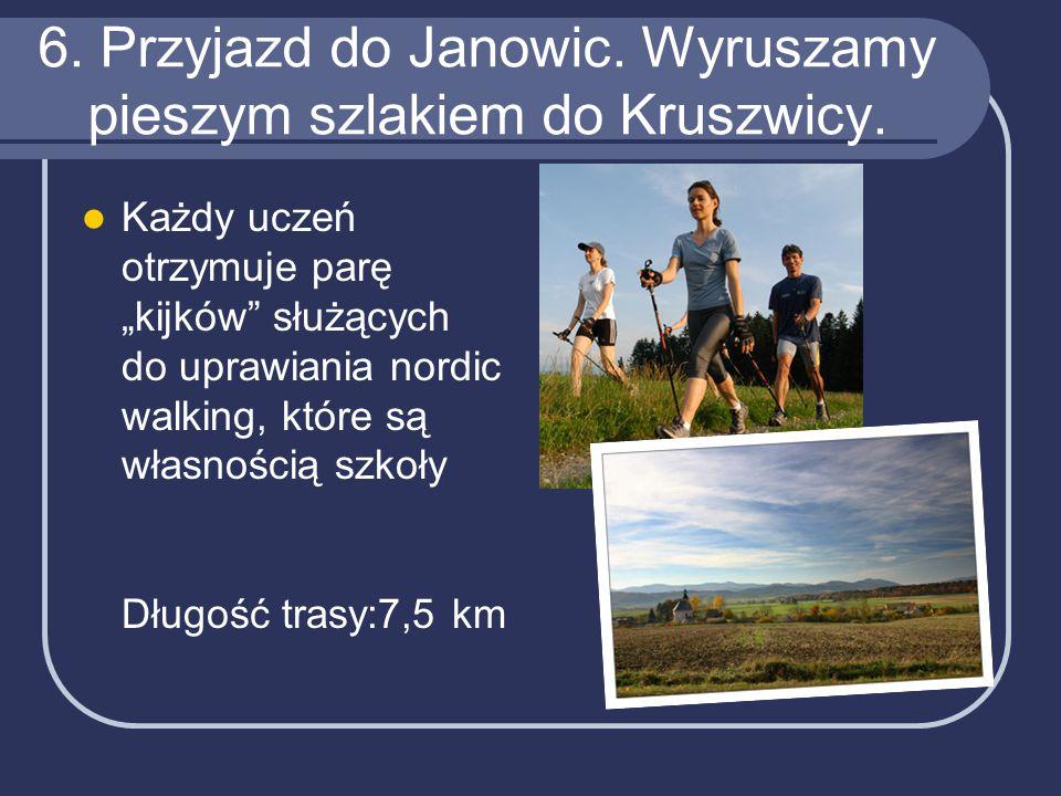 6. Przyjazd do Janowic. Wyruszamy pieszym szlakiem do Kruszwicy.