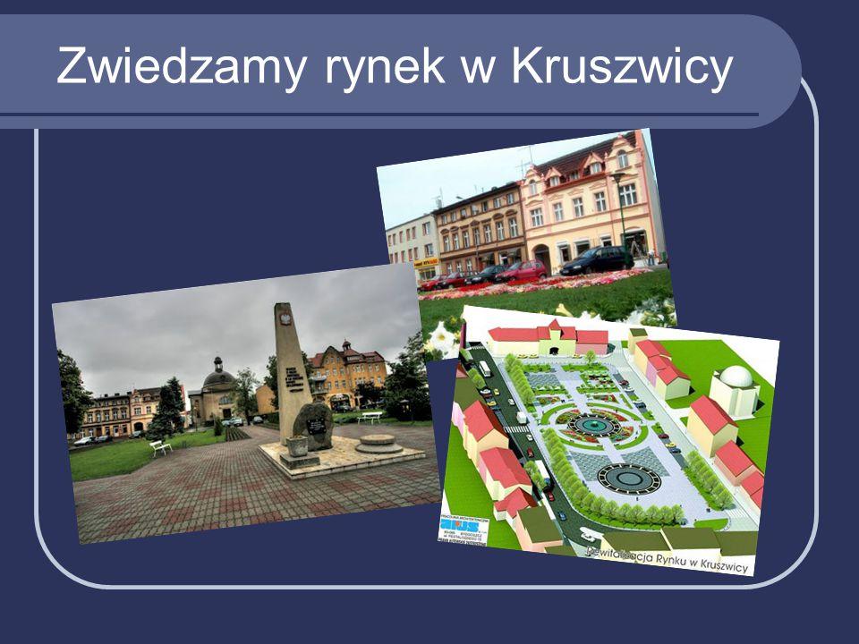 Zwiedzamy rynek w Kruszwicy