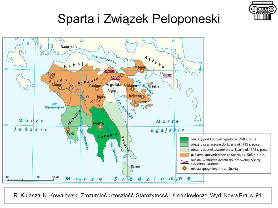 Sparta i Związek Peloponeski R. Kulesza, K. Kowalewski, Zrozumieć przeszłość. Starożytność i średniowiecze, Wyd. Nowa Era, s. 91