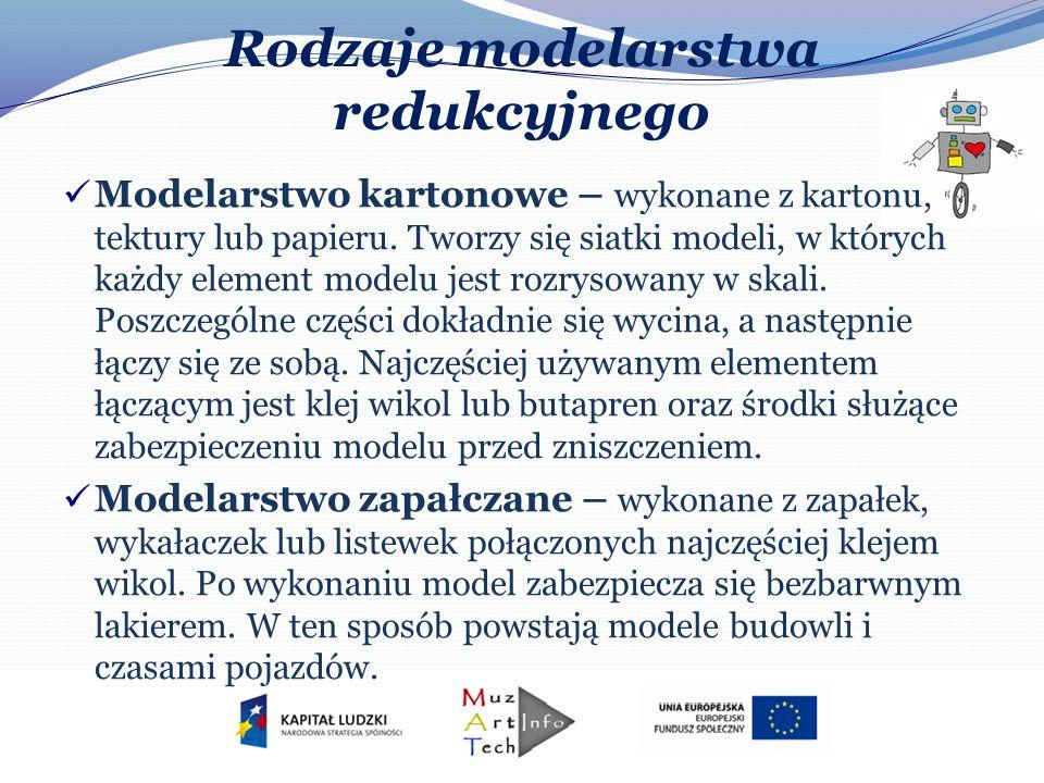 Rodzaje modelarstwa redukcyjnego Modelarstwo kartonowe