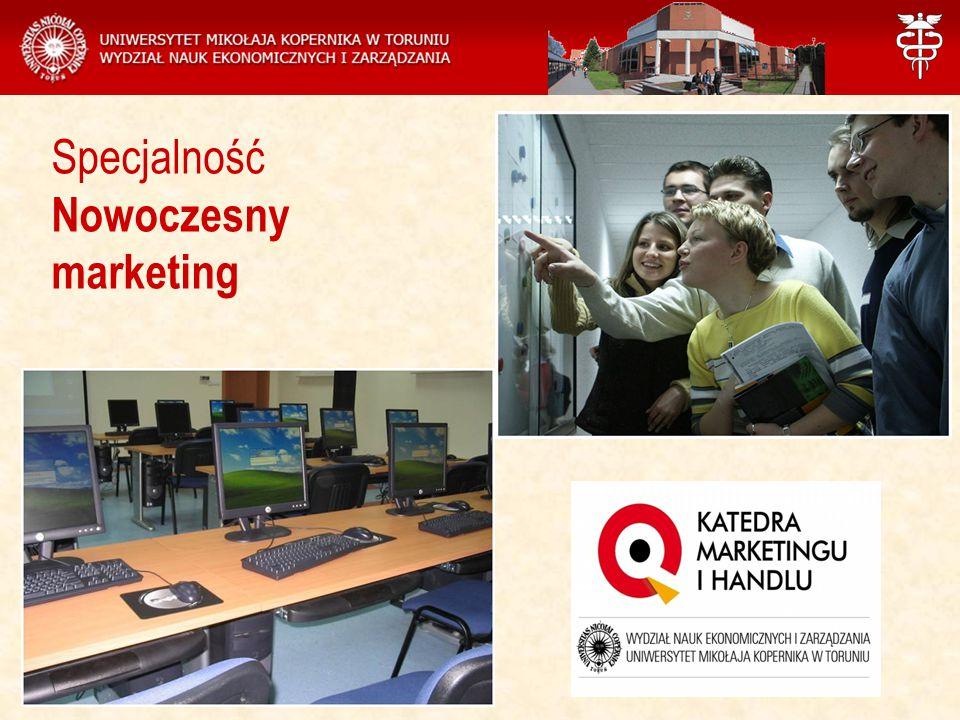Zajęcia na specjalności Nowoczesny marketing prowadzą pracownicy Katedry Marketingu i Handlu
