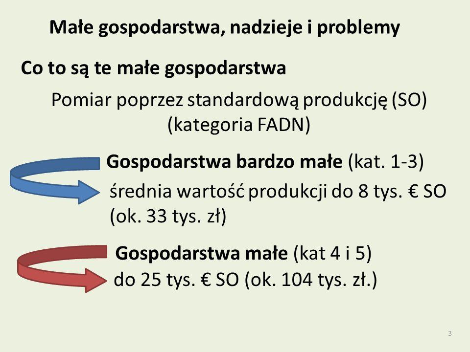 3 Pomiar poprzez standardową produkcję (SO) (kategoria FADN) Gospodarstwa bardzo małe (kat.