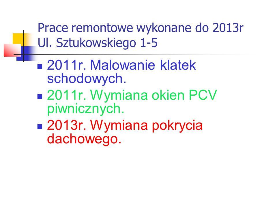 Prace remontowe wykonane do 2013r Ul. Sztukowskiego 1-5 2011r.