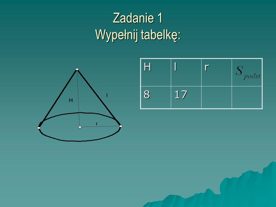 Zadanie 1 Wypełnij tabelkę: Hlr 817