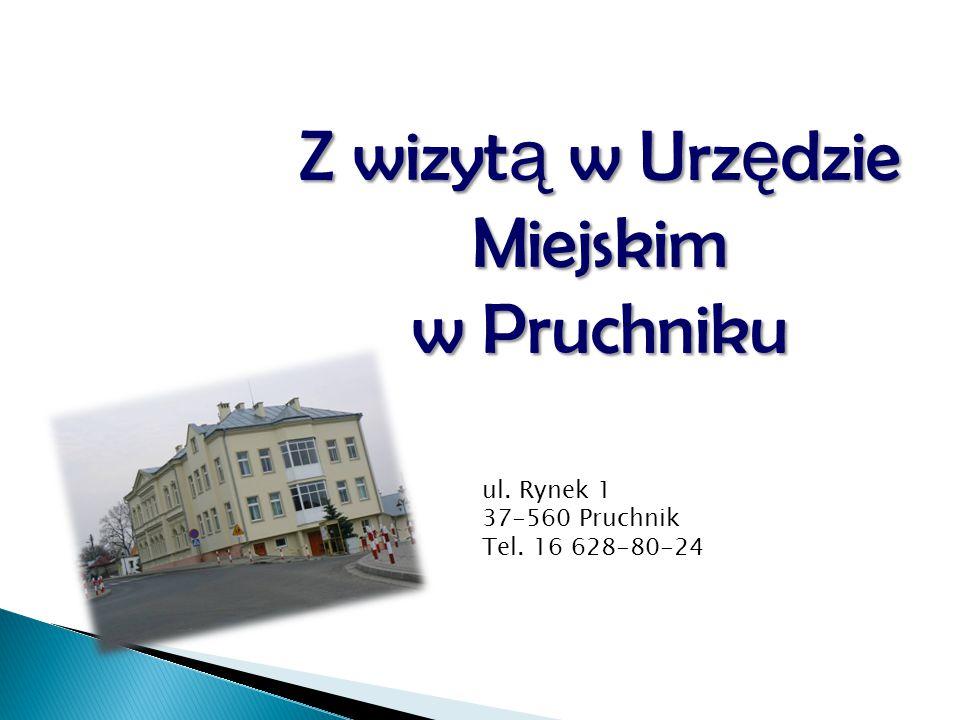 Godziny urzędowania Urzędu Miejskiego w Pruchniku.